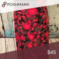 Maxi skirt/dress Red floral medium LuLaRoe Skirts Maxi