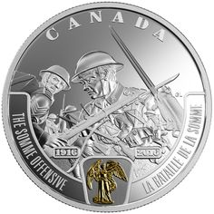 2016 $20 Fine Silver Coin - First World War: Battlefront Series - The Somme Offensive