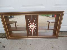 Vintage Mid Century Modern Turner Wall Shelf Shadow Box Mirror Atomic Starburst