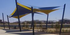 Structure flex offers many types of services of shade structures like Tensile fabric structure,Waterproof shade structure,Tensile membrane and shade sails. Shade sails are manufacture to protect you from sun rays and heavily rains. Outdoor Shade, Patio Shade, Fabric Structure, Shade Structure, Sun Shade, Shade Sails, Diy Awning, Shade House, Public Garden