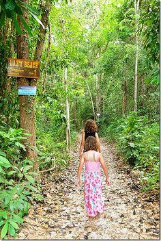 Pathway to Lazy Beach on Koh Rong Samloem Island