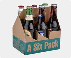 Wine|Beer Carton Box with Dividers, Six Pack Wine|Beer Bottle Carriers