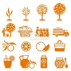 Orange Tree Growing and organic farming black & white icons vector art illustration Family Tree For Kids, Trees For Kids, Small Palm Trees, Small Palms, Oak Tree Drawings, Palm Tree Tattoo Ankle, Tree Illustration, Illustrations, Vector Art