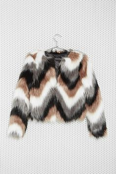 Color Coating Faux Fur Jacket