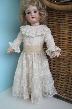 Items similar to Antique Lace Doll Dress Custom Made for Your inch Doll on Etsy Antique Lace, Antique Dolls, Custom Made, Flower Girl Dresses, Antiques, Trending Outfits, Wedding Dresses, Unique Jewelry, Handmade Gifts