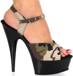"6"" Stiletto Platform Sandal(DELIGHT-609-2)"