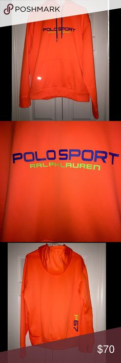 Ralph Lauren polo sport bright orange hoodie large Ralph Lauren polo sport bright orange hoodie large very rare worn only once like new unisex Ralph Lauren Other