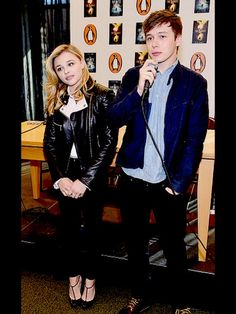chloe grace moretz and nick robinson... My favs together on a film... Nick was looking soo damn handsome ❤
