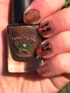 Reindeer Nails using Klingon by Turtle Tootsie Polishes