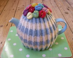 Ravelry: LavenderShoes' Floral Tea Cosy