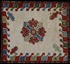 Deep Autumn Color Palette, Benaki Museum, Folk Embroidery, Textile Jewelry, Cushion Fabric, Star Patterns, Fabric Art, Needlepoint, Needlework