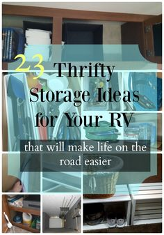 23 thrifty RV storage and organization ideas — K& Olympic Nest camperhacks Organisation En Camping, Camping Organization, Organization Ideas, Storage Ideas, Shelf Ideas, Travel Trailer Organization, Rv Storage Solutions, Cheap Storage, Camper Hacks