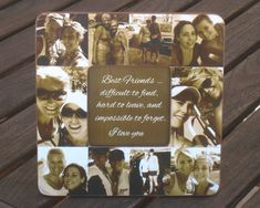 """Best Friend Gift, Unique Sister Gift, Bridesmaid Picture Frame, Custom Collage Maid of Honor Frame, Christmas Gift, 8"""" x 8"""" Frame"""