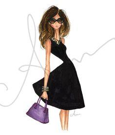 Fashion Illustration Print, Kate Spade