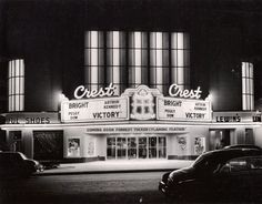 Wichita, KS Title/Object Name: Crest Theatre Creator: Rorabaugh & Millsap Date Original: 1951 Kansas Usa, Land Of Oz, Home On The Range, See Movie, My Town, Beautiful Buildings, Old Movies, Movie Theater, Historical Photos
