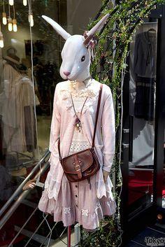 #Mori #mori girl #mori kei #mori fashion #mori style #wonder rocket #mannequin #rabbit #harajuku