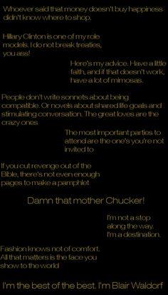 Top Ten Blair Waldorf Quotes