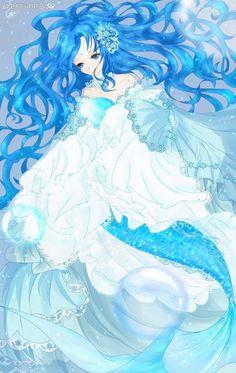 Mermaid Melody, Cute Mermaid, Mermaid Art, Anime Fantasy, Fantasy Art, Anime Mermaid, Anime Monsters, Mermaid Drawings, Tiger Art