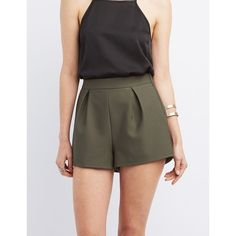maurices Shorts With Ruffled Hem In Olive, Women's, ($20) ❤ liked ...