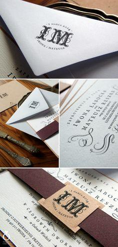 Iwona & Mateusz wedding invitation. / Designed by Calym Sercem