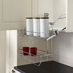 Storage Wall Pulldown Basket - How clever!