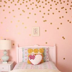 Yanqiao 5cm*20pcs Round Circle Art Glitter Sayings Sticker Vinyl Polka Dot D¨¦cor,Gold: Amazon.co.uk: DIY & Tools