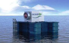 The world's first 1 MW wave energy power plant by Australian wave energy company Oceanlinx, in Port MacDonnell, South Australia.    Images