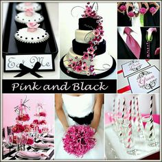 Black & Pink Wedding Ideas - California Weddings At:  http://www.FresnoWeddings.Net/