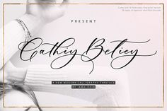 Buy Cathiy Betiey Script by debob on GraphicRiver. Cathiy Betiey Script is modern calligraphy script font, every single letters has been carefully crafted to make your . Calligraphy Fonts, Script Fonts, New Fonts, Modern Calligraphy, Beautiful Calligraphy, Typography Fonts, Script Writing, Font Logo, Beautiful Fonts
