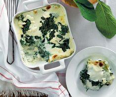 Lasagne verdi con tarassaco, crescione, borragine e ricotta