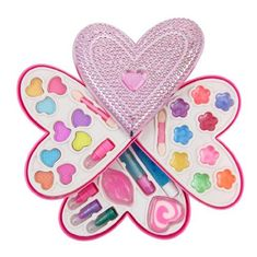 Petite Girls Heart Shaped Cosmetics Play Set - Fashion Makeup Kit For Kids :separator:Petite Girls Heart Shaped Cosmetics Play Set - Fashion Makeup Kit For Kids