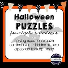 Have fun TREATing your students to puzzles in math class!  The only TRICK is that they will have fun practicing their math skills!