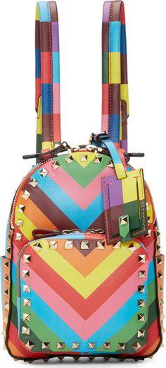 Valentino Rainbow 1973 Mini Rockstud Backpack