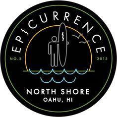 Epicurrence conference - uses unique bagdes for each location Conference Branding, North Shore Oahu, Logos, Unique, Design, Design Comics, Logo, Legos