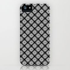 Black and White Custom Pattern iPhone Case by HeyTrutt - $35.00
