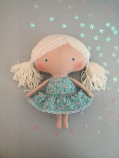 Rag doll Baby gifts Cloth doll Children Girl by HandmadeToyStore