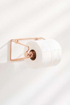 Slide View: 1: Minimal Rose Gold Toilet Paper Holder