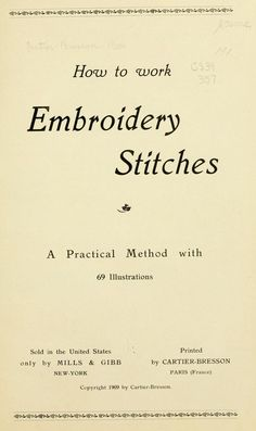 How to work Embroidery Stitches- embroidery, heavy embroidery(satin stitches), buttonholing(scallops, eyelet, richelieu)