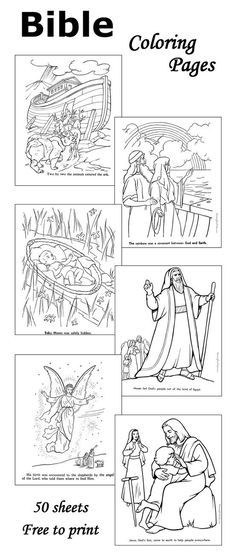 Bible coloring pages - 50+ sheets