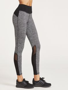 Shop Contrast Marled Knit Mesh Insert Leggings online. SheIn offers Contrast Marled Knit Mesh Insert Leggings & more to fit your fashionable needs.