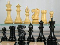 Premier Weighted Staunton Chess Set Ebony Wood Piece 4Q. http://www.chessbazaar.com/chess-pieces/wooden-chess-pieces/premier-weighted-staunton-chess-set-ebony-wood-piece-4q.html