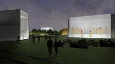 Illustration by Steven Holl Architects of the Expansion Projects building and #VideoWall | The Expansion Project, due to open in 2018, will feature an outdoor video wall where performances can be simulcast, an outdoor performance space and multi-purpose spaces for the Center's extensive programming, performance and arts education offerings.