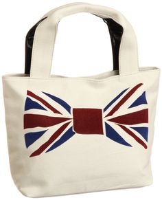Union Jack bow tie on bag
