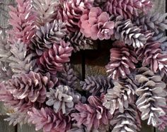 Pinecone Wreath - 12'' Pretty In Pink - Made to Order - Customize your colors!
