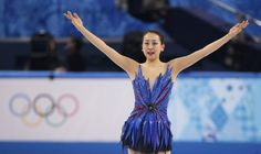 Japan's Mao Asada reacts at the end of her program during the Figure Skating Women's free skating Program at the Sochi 2014 Winter Olympics, February 20, 2014. REUTERS/Lucy Nicholson (3300×1958)
