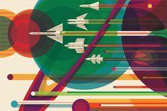 https://acredite.co/ O Estúdio de Design do JPL – Jet Propulsion Laboratory criou uma série de pôsteres de locais de visitação turística no nosso sistema solar e além, em um exercício de futurismo (e otimismo) e para celebrar os avanços da pesquisa espacial e brincar com a nossa imaginação.
