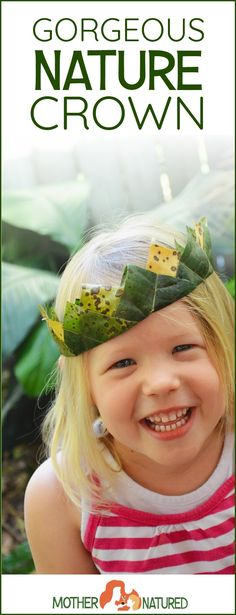 Easy Nature Crown tutorial for kids!
