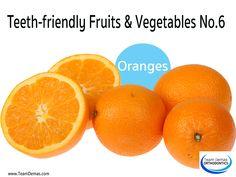 Teeth-Friendly Fruits & Vegetables No. 6: Orange || Team Demas Orthodontics - 51 Depot Street Suite 505 Watertown, Connecticut 06795 Phone: (860) 274-6625.  #teethfriendly #fruits #oranges #TeamDemasOrtho