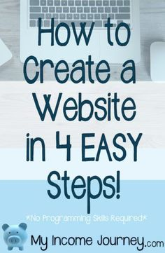 How To Create A Website In 4 Easy Steps Detailed Tutorial O. Make Money From Home, Way To Make Money, Make Money Online, Money Fast, Start A Website, How To Start A Blog, How To Make, Website Design Inspiration, Design Ideas