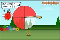 Fractions Game - Jelly Golf